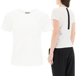 21SS 여성 백 로고 티셔츠 화이트 8C7B0 10 829H8 034