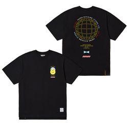 UNIVERSE OVERSIZED T-SHIRTS BLACK