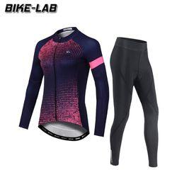 [BIKELAB]여성 긴팔 자전거의류 상하세트 XFLJS004