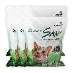 퀸오브샌드 고양이 냥이 두부 모래 7L(녹차) (6개)