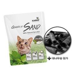 퀸오브샌드 고양이 냥이 두부 모래 7L(숯)(6개)