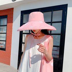 여성 챙 넓은 도트 벙거지 여름 모자