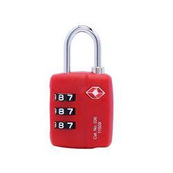 트래블블루 036 TSA 자물쇠 레드