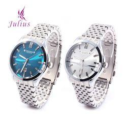 줄리어스 - JHA086 시리즈 4종택1 남성 메탈손목시계