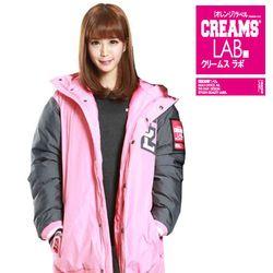 크림스랩CREAMS LAB - 베이스볼 패딩 자켓 핑크(BASEB