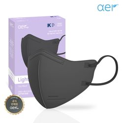 아에르 라이트핏 KF94 보건용 마스크 블랙 10매
