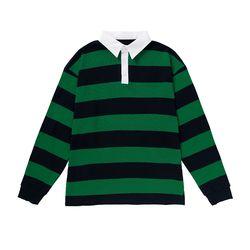 .올라온 Stripe Collar Shirts - A_17 - Green/Black