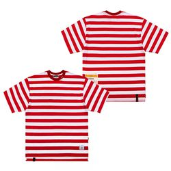 STRIPE OVERSIZED T-SHIRTS RED