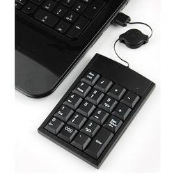 컴스 키패드 USB 자동감김 19키 블랙 키보드별도