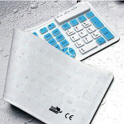컴스 키보드 실리콘 롤 USB타입 투톤 화이트