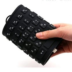 컴스 키보드 실리콘 롤 USB타입 블랙
