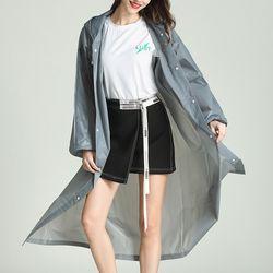 EVA 성인남녀공용 패션 방수 레인코트 우비