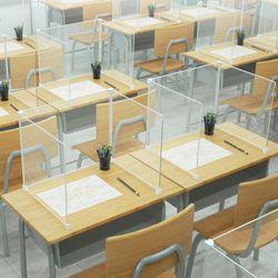 투명 아크릴 코로나 방지 테이블 칸막이
