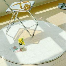 플러피 원형 사계절 거실 바닥러그 물세탁가능 러그 100cm