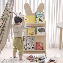[꼬메모이] NEW 리틀라핀 전면책장+스탠딩 꼬모랙 내츄럴 세트