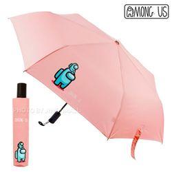 어몽어스 미니어처 3단 완전자동우산-핑크