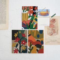 파편과 조각 엽서 . 인테리어 엽서 (RM 345001 4종 세트)