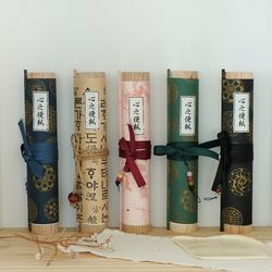 옛날 감성 두루마리 동양 편지지