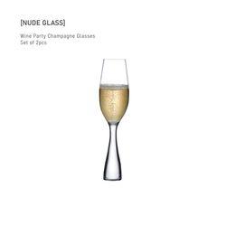 누드글라스 와인 파티 샴페인 글래스(set of 2pcs)