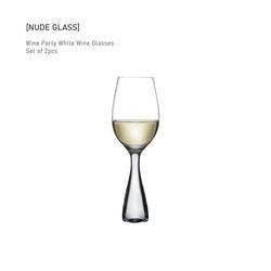 누드글라스 와인 파티 화이트 와인 글래스(set of 2pcs)