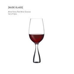 누드글라스 와인 파티 레드 와인 글래스(Set of 2pcs)