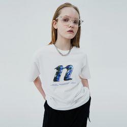3D N LOGO TSHIRT-WHITE