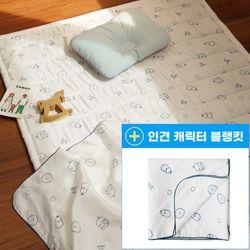 인견 아기 쿨매트 - 논슬립 3D 에어매쉬 신생아 패드