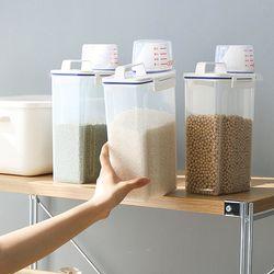 푸어드 손잡이형 쌀통2kg