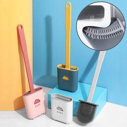 실리콘 변기솔 변기 클리너 욕실 청소솔 화장실 청소