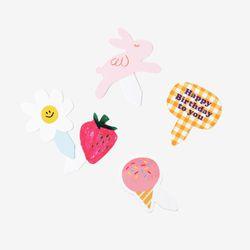 분홍소풍 픽 셋트 (2셋트 낱개로 10개)