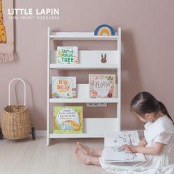 [꼬메모이]리틀라핀 슬림형 전면책장 화이트 자작나무 유아 가구