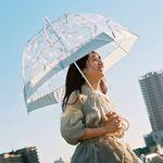 우산 플랜티카 돔형 투명우산 장우산 PLV