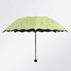 플라워 암막 3단 여성 수동 양우산
