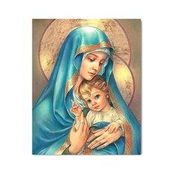 DIY 페인팅 - 성모마리아와 아기예수의 포옹 PR12 (40x50)