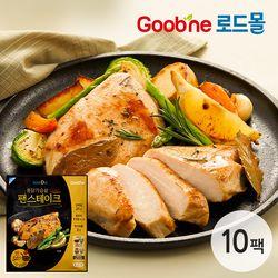 굽네 로드닭 통 닭가슴살 팬 스테이크 10팩