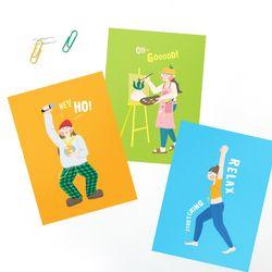 [엽서카드] POSTCARD - 제이의 취미생활 시리즈 (3종 택1)
