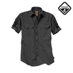 해저드4 미캐닉 반팔셔츠 (블랙)
