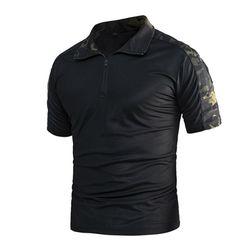 네오 택티컬 신형 반팔 컴뱃 셔츠 (멀티카모 블랙)