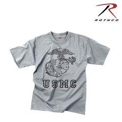 로스코 빈티지 USMC 글로브 앵커 티셔츠 (그레이)