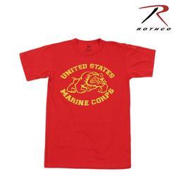 로스코 빈티지 U.S 마린 불독 티셔츠 (레드)