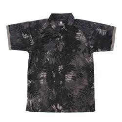 네오 택티컬 카라 반팔 티셔츠 (스네이크 카모 블랙)
