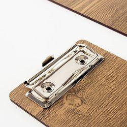 카페 빌지 패드 영수증 계산서 꽂이판 우드 클립보드 대형 200mm