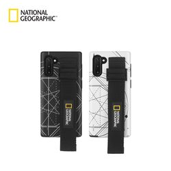 내셔널지오그래픽 갤럭시노트10+ 스트랩 더블 로고 패치 케이스