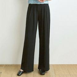 NATURAL LINEN PANTS [BLACK]
