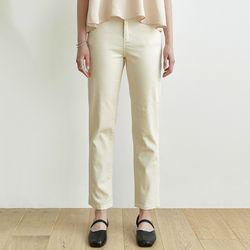 REGULAR COTTON PANTS [BEIGE]