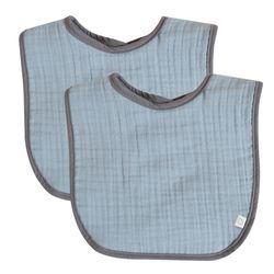 꿈두부 삼중양면거즈 이유식 턱받이 2개세트 모음 아기 면침받이