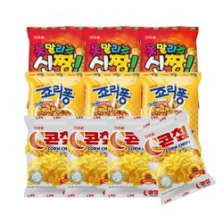 크라운  콘칩44gx4+신짱38gx3+죠리퐁50gx3 (총10개)