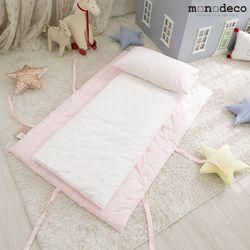 신생아 순면 낮잠이불세트(이불+패드+베개커버+베개솜) 2color