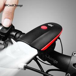 CoolChange 일체형 USB 충전식 벨+자전거 전조등