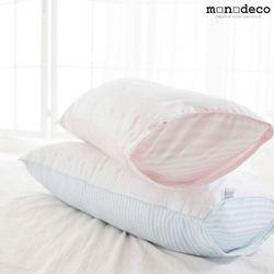 신생아 아기 무화학 순면 베개커버+베개솜 2color 30X70